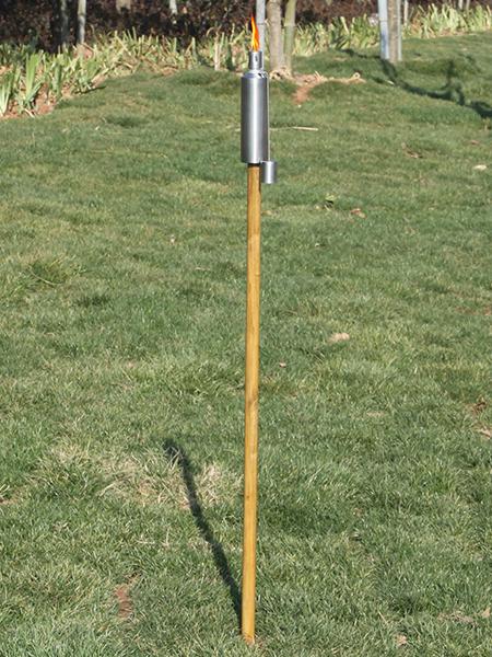 CT-101W rostfritt stål trädgård ficklampa med trä pole