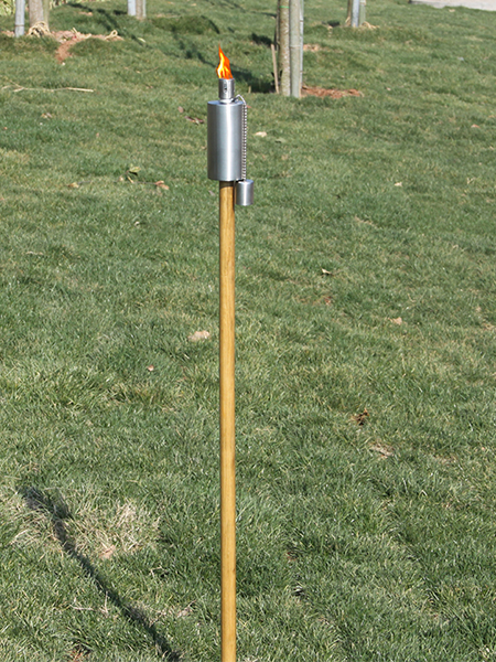CT-105W rostfritt stål trädgård ficklampa med trä pole