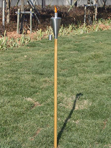 CT-106W rostfritt stål trädgård ficklampa med trä pole