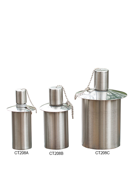 CT-208A-C Tabell Ficklampa för Backyard eller uteplats, Rostfritt stål med glasfiber Wick