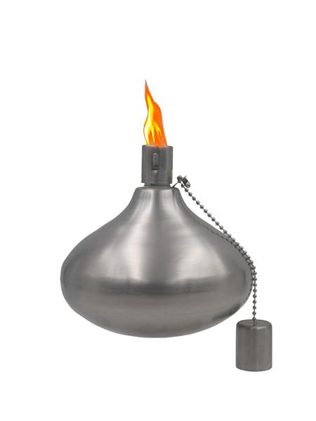 CT-209 Tabell Ficklampa för Backyard eller uteplats, Rostfritt stål med glasfiber Wick
