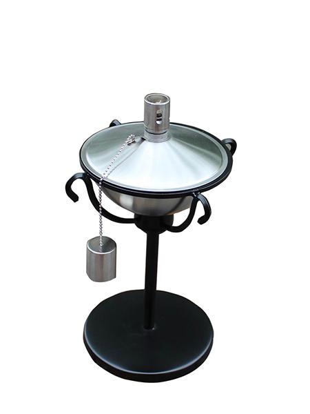 CT-210 Tabell Ficklampa för Backyard eller uteplats, Rostfritt stål med glasfiber Wick