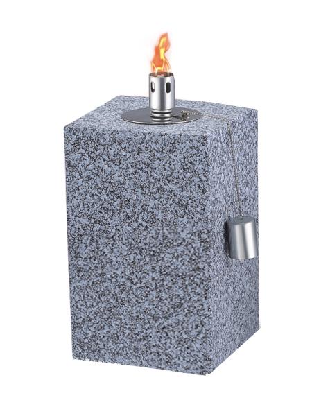 CT-801 Tabell Ficklampa för Backyard eller uteplats, Rostfritt stål med glasfiber Wick
