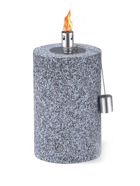 CT-802 Tabell Ficklampa för Backyard eller uteplats, Rostfritt stål med glasfiber Wick