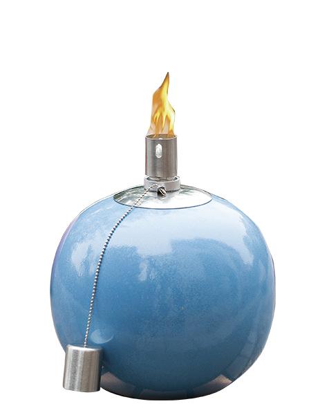 CT-804 Tabell Ficklampa för Backyard eller uteplats, Rostfritt stål med glasfiber Wick