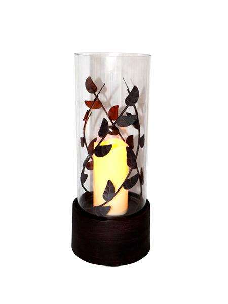 Flameless Black Lanterns Candle le soilse Bán teolaí, Miotal Slat Design