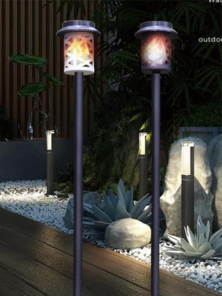 SL-105 Soilse na gréine arna Lantern Rince Flame Allamuigh Crochta Lantern Maisiú Soilsiú